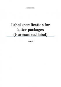 Label specification for letter packages (Harmonized label)