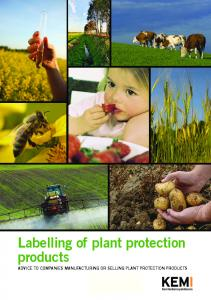 Labelling of plant protection products