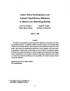 Labor Force Participation and General Equilibrium Efficiency in Search and Matching Models