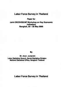 Labor Force Survey in Thailand