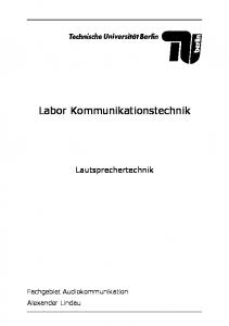 Labor Kommunikationstechnik