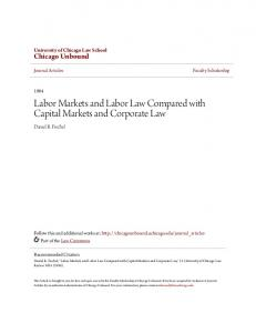 Labor Markets and Labor Law Compared with Capital Markets and Corporate Law