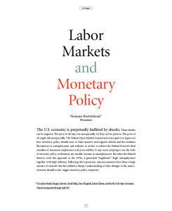 Labor Markets and Monetary Policy