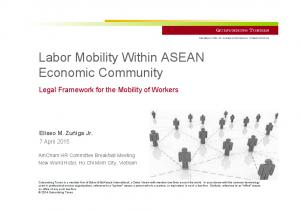 Labor Mobility Within ASEAN Economic Community