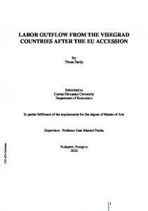 LABOR OUTFLOW FROM THE VISEGRAD COUNTRIES AFTER THE EU ACCESSION