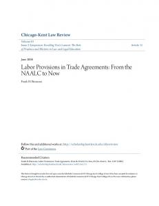 Labor Provisions in Trade Agreements: From the NAALC to Now