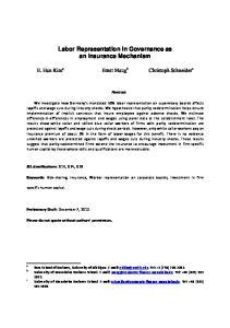 Labor Representation in Governance as an Insurance Mechanism