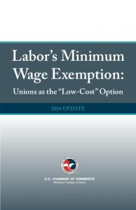 Labor s Minimum Wage Exemption: