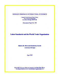 Labor Standards and the World Trade Organization