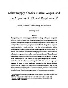 Labor Supply Shocks, Native Wages, and the Adjustment of Local Employment *