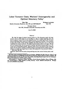 Labor Turnover Costs, Workers Heterogeneity and Optimal Monetary Policy