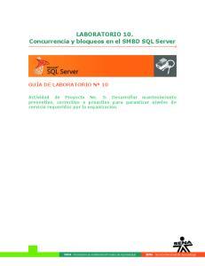 LABORATORIO 10. Concurrencia y bloqueos en el SMBD SQL Server
