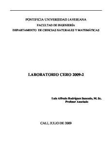 LABORATORIO CERO