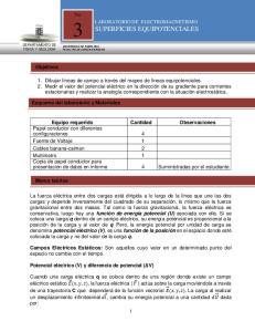 LABORATORIO DE ELECTROMAGNETISMO SUPERFICIES EQUIPOTENCIALES