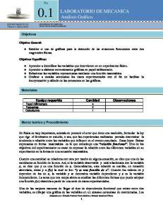 LABORATORIO DE MECANICA Análisis Gráfico