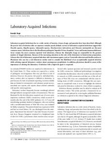 Laboratory-Acquired Infections