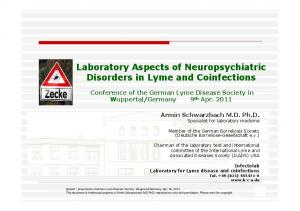 Laboratory Aspects of Neuropsychiatric Disorders in Lyme and Coinfections
