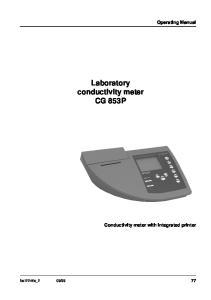 Laboratory conductivity meter CG 853P