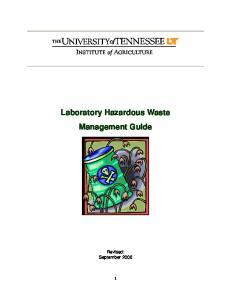 Laboratory Hazardous Waste Management Guide