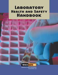 Laboratory. Health and Safety. Handbook
