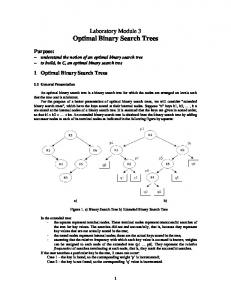 Laboratory Module 3 Optimal Binary Search Trees