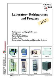 Laboratory Refrigerators and Freezers 2010