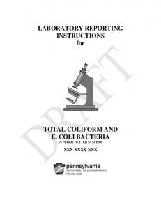 LABORATORY REPORTING INSTRUCTIONS for
