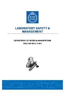 LABORATORY SAFETY & MANAGEMENT