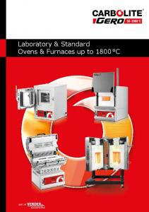 Laboratory & Standard Ovens & Furnaces up to 1800 C
