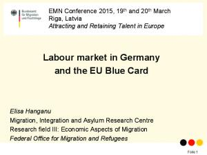 Labour market in Germany and the EU Blue Card