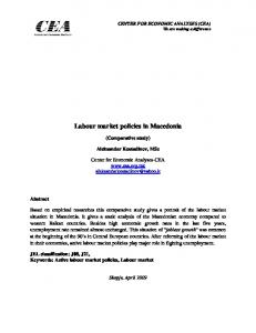 Labour market policies in Macedonia