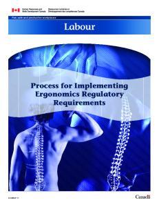 Labour Process for Implementing Ergonomics Regulatory Requirements