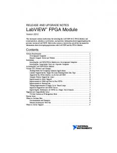 LabVIEW FPGA Module Version 2012