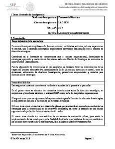 LAC-1030 SATCA 1 : Carrera: