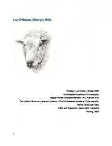 Lac Ovinum, Sheep s Milk