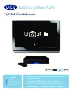 LaCinema Black PLAY. High-Definition-Mediaplayer
