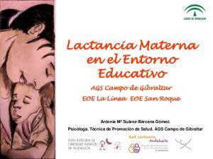 Lactancia Materna en el Entorno Educativo