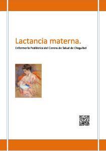 Lactancia materna. Enfermería Pediátrica del Centro de Salud de Olaguibel