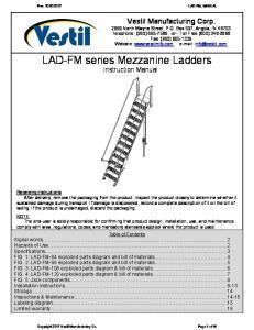 LAD-FM series Mezzanine Ladders Instruction Manual
