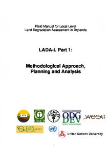 LADA-L Part 1: Methodological Approach, Planning and Analysis