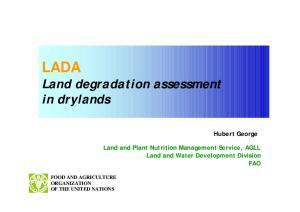 LADA Land degradation assessment in drylands