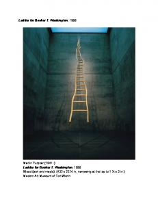 Ladder for Booker T. Washington, 1996