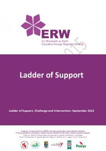 Ladder of Support Ladder of Support, Chal enge and Intervention: September 2015