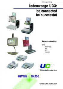 Ladenwaage UC3: be connected be successful