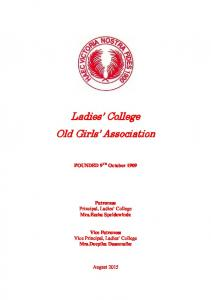 Ladies College Old Girls Association