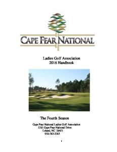 Ladies Golf Association 2016 Handbook