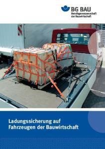 Ladungssicherung auf Fahrzeugen der Bauwirtschaft
