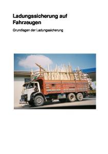 Ladungssicherung auf Fahrzeugen