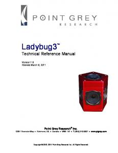 Ladybug3 Technical Reference Manual