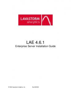 LAE Enterprise Server Installation Guide